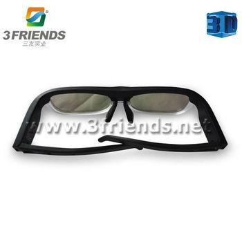 Hot selling 3D active shutter glasses bluetooth glasses for 3D TV