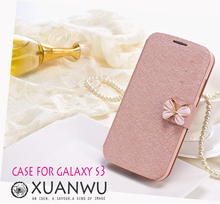 neo cell bowknot Decoration mobile phone bag to Case For samsung galaxy s3 s4 s5 i9300 Cover by Phone Leathe filp fundas covers(China (Mainland))