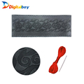 Fashion New Design Brand Quality Black DIY Genuine Leather Cowhide Car Steering Wheel Cover With Needles