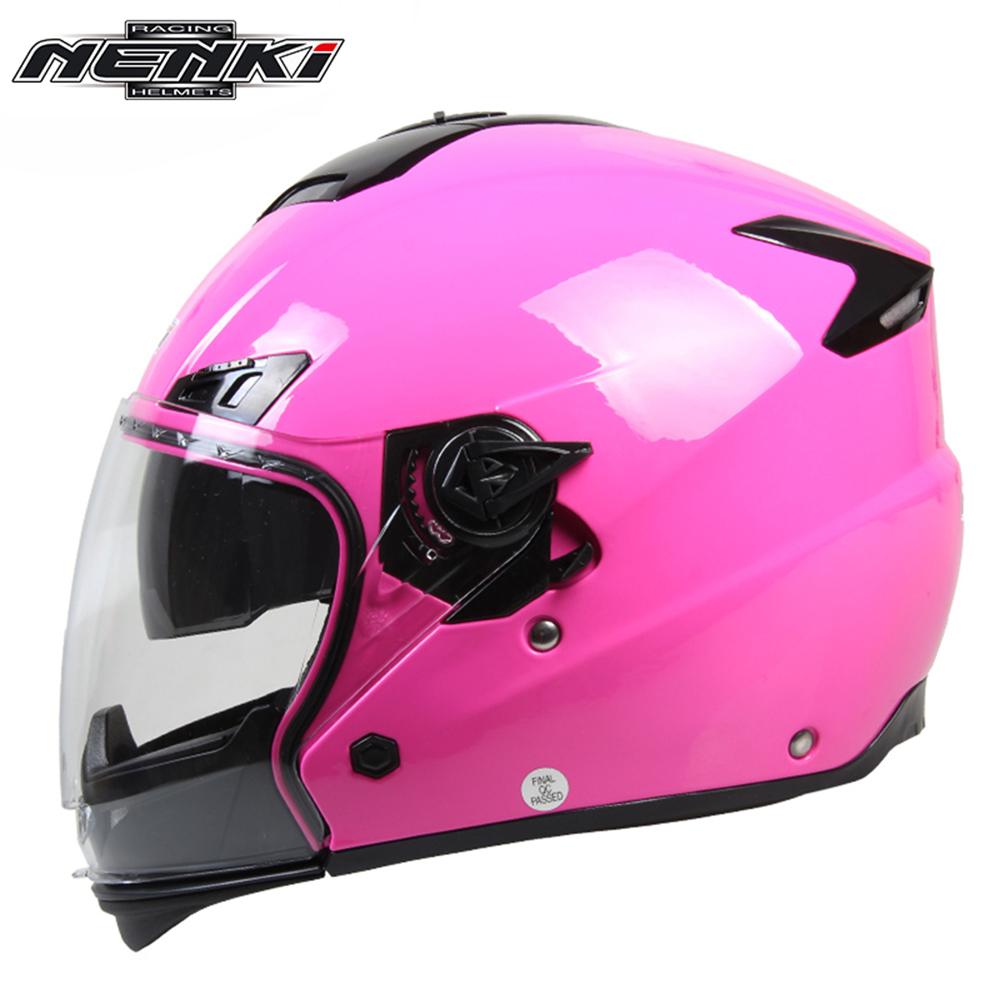 NENKI Motorcycle Helmet Fashion Design Full Face Racing Helmets With Dual Visor Sun Shield Lens Motorbike Riding Street(China (Mainland))