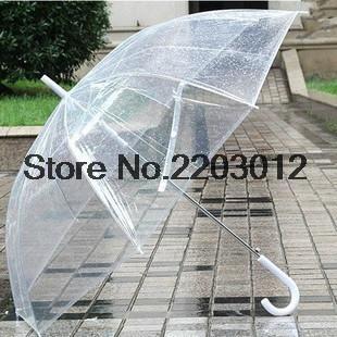 Transparent plastic PVC automatic umbrella sunny rainy creative umbrella many colors(China (Mainland))