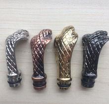 Free ship!Drip Tip Cobra Head Shaped Fashion design for electronic cigarette Metal Inhaler Snake Drip Tip
