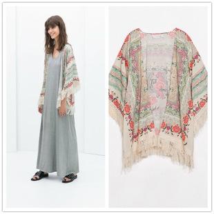 women flor kimono cardigan vintage camisa femininas chiffon blusas shirts vetement femme formal. Black Bedroom Furniture Sets. Home Design Ideas