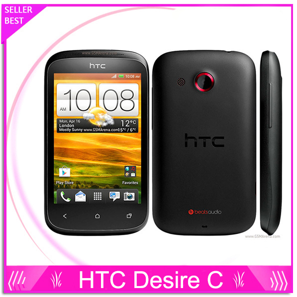 A320E Original Unlocked HTC Desire C A320e Cell phone Android GPS WIFI 3G 3.5''Touch 5MP Camera free shipping(China (Mainland))