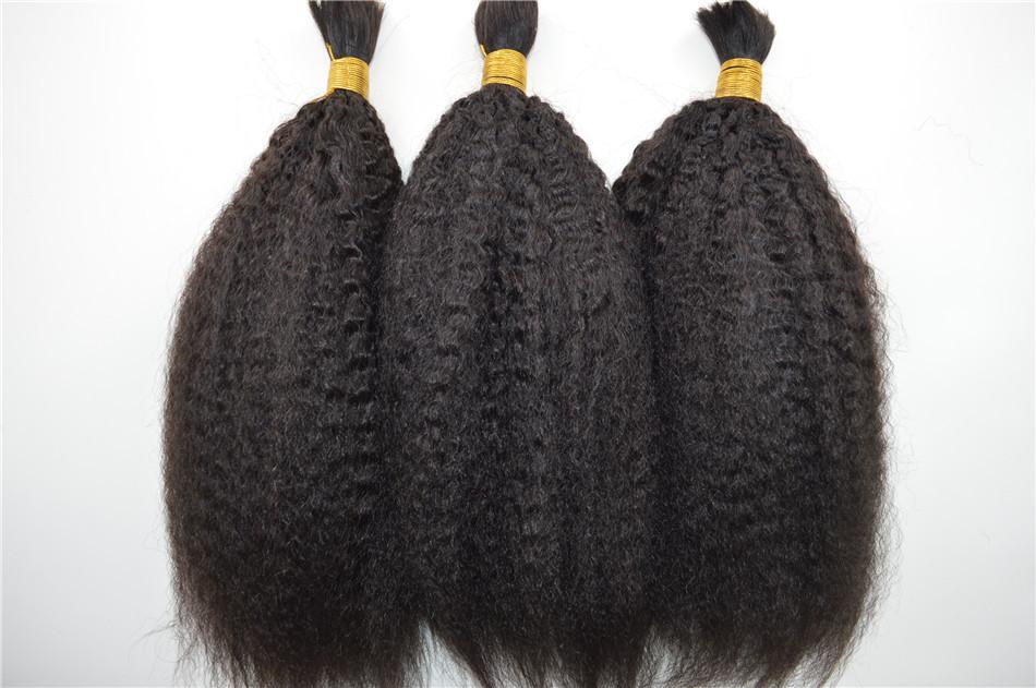 Human Hair Bulk For Braiding Kinky Straight Bulk Braiding Virgin Hair 3 Bundles 8″-30″inch Brazilian Virgin Hair Bulk