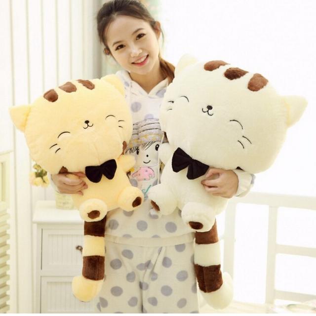 45 см прекрасный большой лицо улыбается кошка чучела плюшевые игрушки Brinquedos лучшие подарки для детей высокое качество