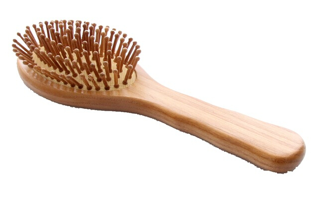 Hot Sale Wooden Bamboo Hair Vent Brush Brushes Hair Care and Beauty SPA Massager Massage Comb(China (Mainland))