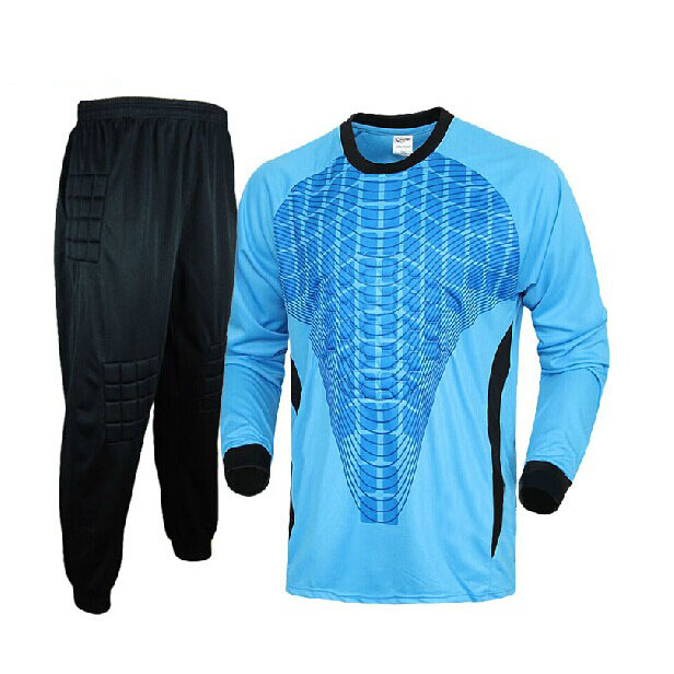 Football doorkeepers jersey long-sleeve top trousers male goalkeeper football jersey goalkeeper clothing soccer shirt sets(China (Mainland))
