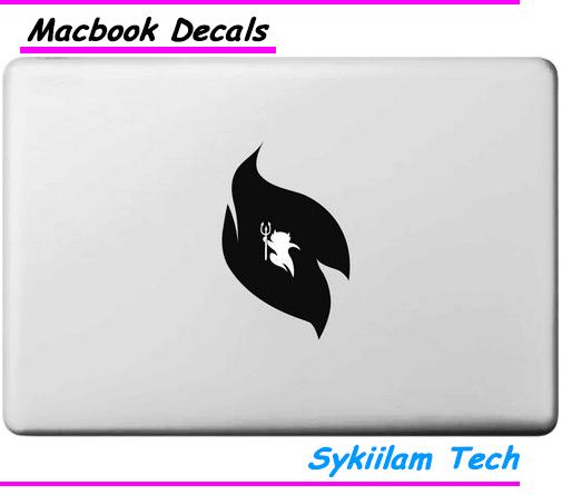 Cartoon Small Devil Ghost Inside Logo Vinyl Sticker for Apple Skin Macbook Air 11 13 Pro 13 15 Retina Computer Car Ad Decal(China (Mainland))