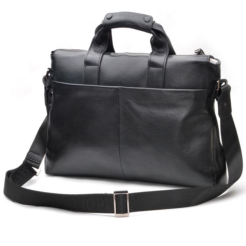 Фотография 2016 NEW High quality Real Genuine leather Men handbag Korean style Fashion Business Briefcase 14 inch Laptop bag shoulder bags