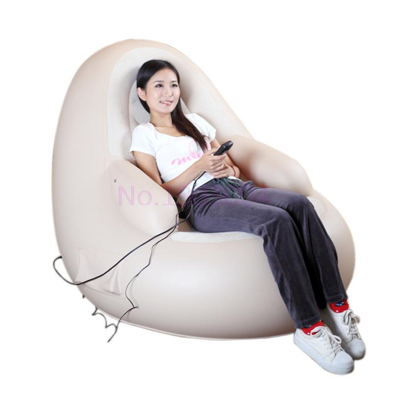 Фотография Luxury Multifunctional Electric body Massager Chair Inflatable Sofa Home Massage Armchair +  Inflator pump + Inflatable Pillow