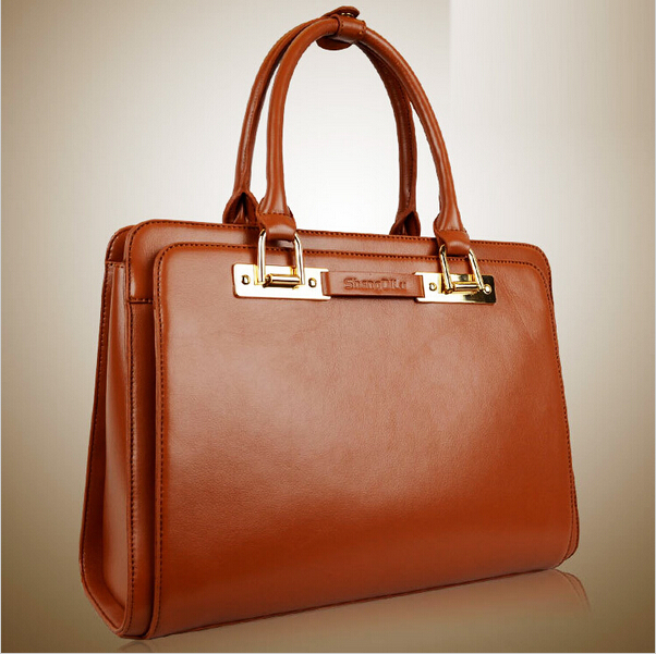 High quality brand elegant bag commercial female formal bag women's briefcase bags 2016 new genuine leather women's handbag(China (Mainland))