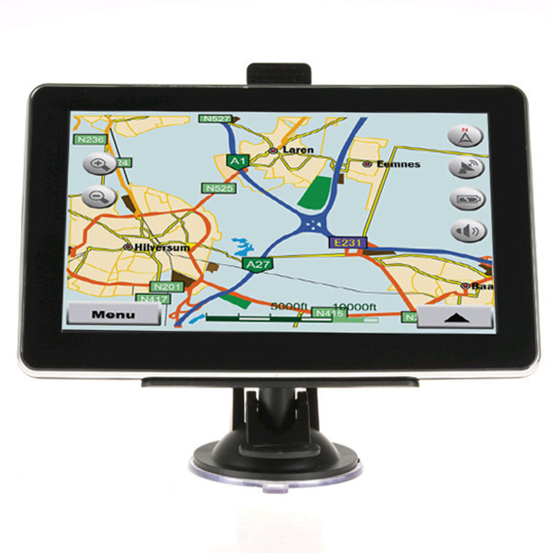 7 Inch HD Car GPS Navigation 8GB/256M DDR/800MHz Truck Vehicle Navigator FM MP3/MP4 Players Free Latest Maps GI2240(China (Mainland))