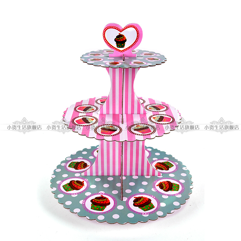 2015 New Vogue Candy Muffin Sugar Lollipop Dessert Western Cupcake Fancy Colors Paper Board Cake Stand for Party Decoration(China (Mainland))