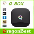 Q Box Android 5 1 Smart TV BOX Media player Amlogic S905 64bits 2GB 8GB LAN