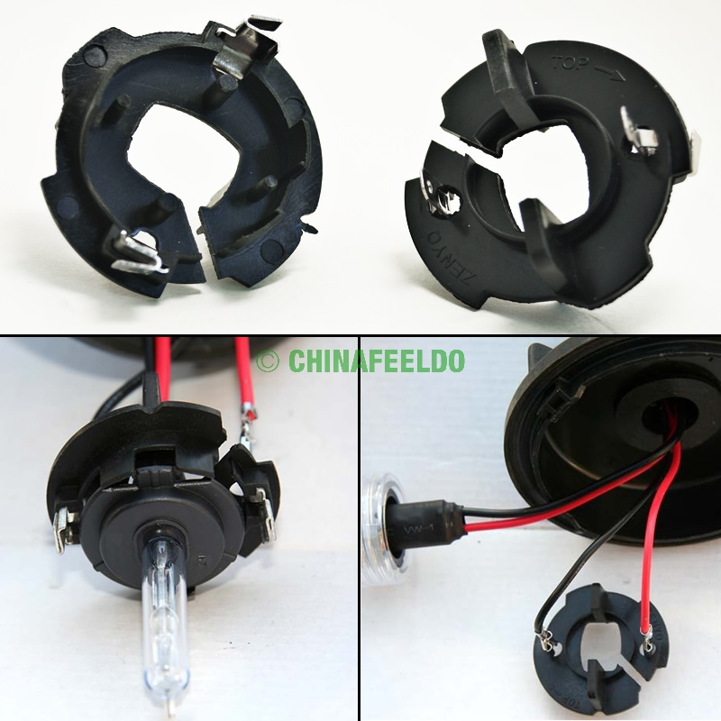 2pcs Car Bulbs Socket Conversion Adapter For VW(99-10)MK5/Golf/GTI/Rabbit/Jetta H7 Xenon Bulb Installation(Type2)J-1335(China (Mainland))