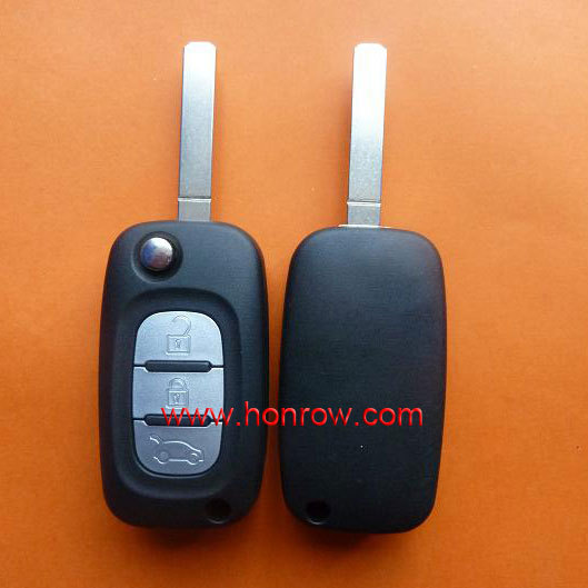 High quality Renault 3 button remote key renault blank with HK free shipping