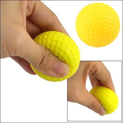 Free Shipping 20 pcs/bag Bright Color Light Indoor Outdoor Training Practice Golf Sports Elastic PU Foam Balls(China (Mainland))
