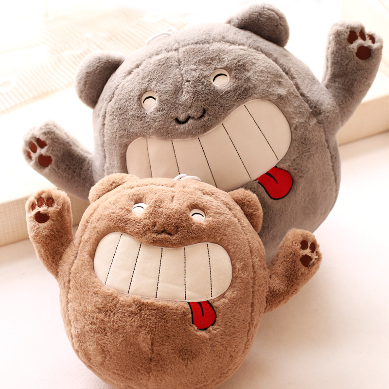 Free shipping 35cm 1pc Ha ha laugh spit tongue bear plush toys animal doll hold pillow stuffed toy baby children gift(China (Mainland))