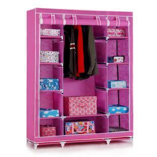YoHere furniture bedroom double steelframe folding fabric wardrobe closet clothes storage cabinet portable wardrobe hanging(China (Mainland))