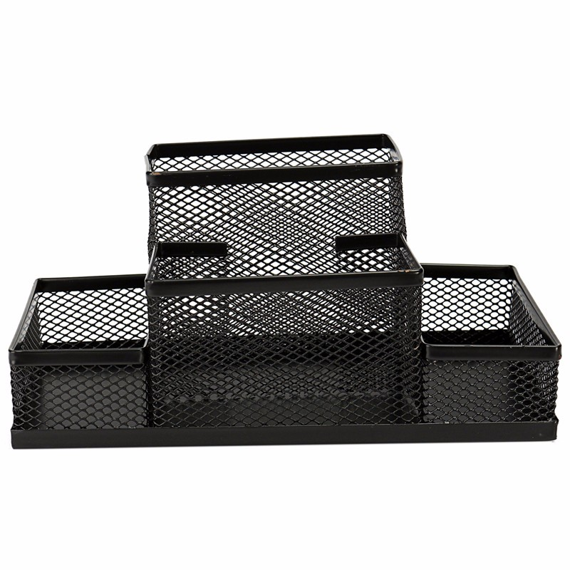 Multifunction Mesh Pen Holder Metal Black For Storage Desktop Small Items School Office Supplies Desk Organizer Study Storage(China (Mainland))