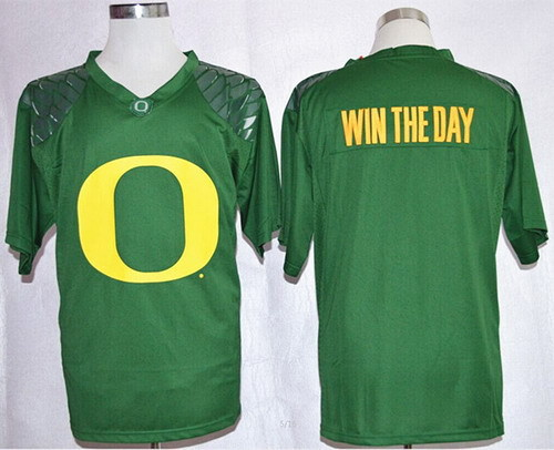 top Quality College Football Jerseys Oregon Ducks Blank Win The Day Team Pride Fashion Green Jersey free shipping(China (Mainland))