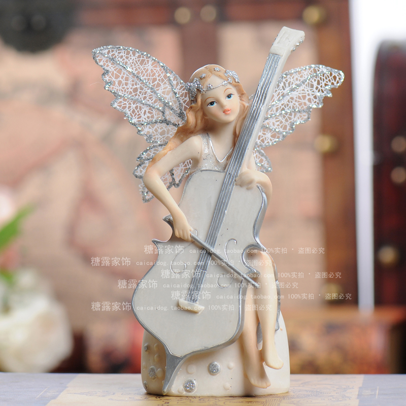 Artesanato Material Manualidades European Type Resin Decoration Exquisite Figure Children Room Little Angel Birthday Gift 8500(China (Mainland))