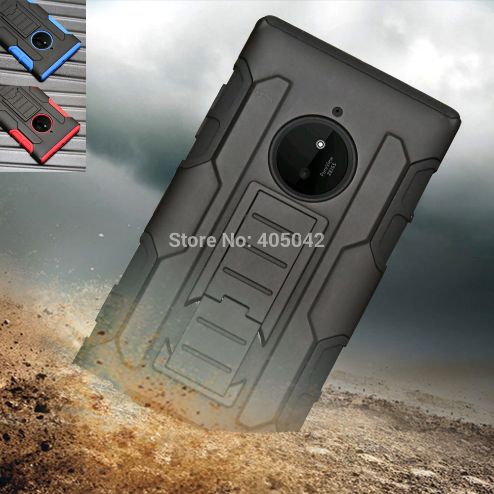 Case For Nokia Lumia 830 Heavy duty Rugged Armor Hybrid Case Shockproof Cover Belt Clip Holster For Lumia 830 + FILM + Stylus(China (Mainland))