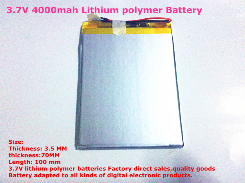 Size 3570100 3.7V 4000mah Lithium polymer Battery with Protection Board For 7 inch Tablet PC Ainol Aurora<br><br>Aliexpress