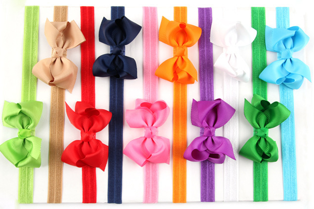 Big Sale! 20Clr children accessories Infant newborn Baby girl accessories ribbon bow Toddler Head bands Headwear kids Hair Band(China (Mainland))
