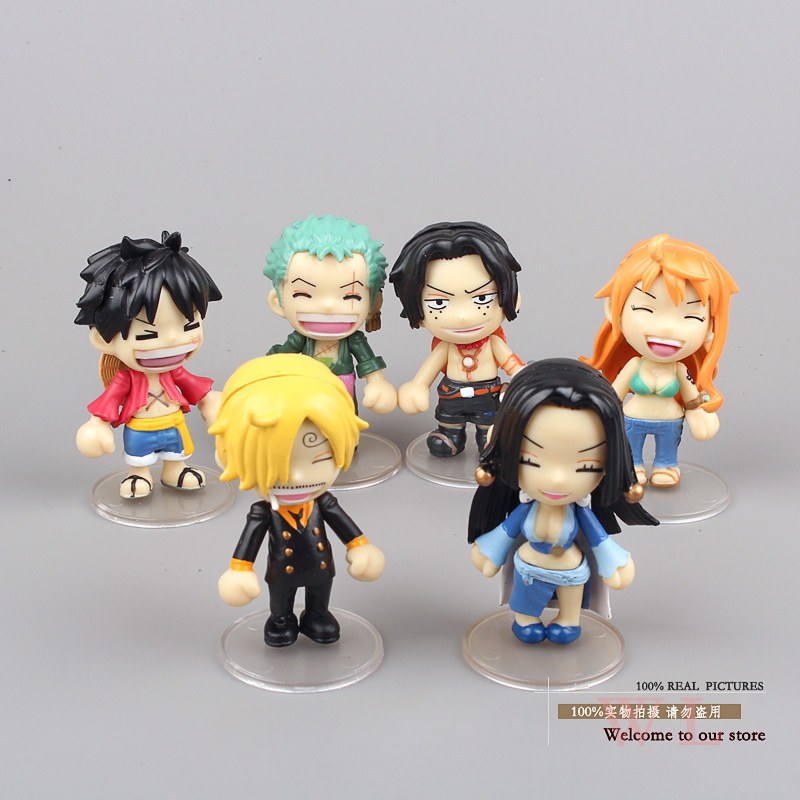 font b Anime b font One Piece Luffy Sanji Boa Hancock Ace Zoro Nami Mini