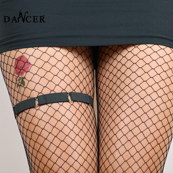 2014 новый сексуальный черный спандекс ноги подвязку модный круговой проводов для ...