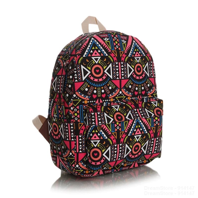 High Quality Women Korean Style Printing Canvas Girls Backpack Fashion Students Backpacks Ladies Stylish Galaxy Mochila Feminina(China (Mainland))
