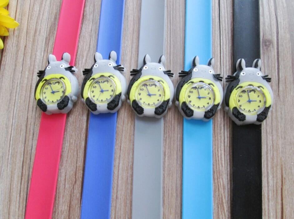 free shipping dhl 50pcs New Totoro Cartoon Watches kids Fashion Quartz slap Watch