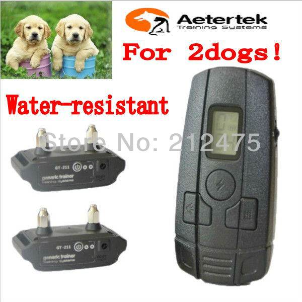 AETERTEK AT-211SW 350M REMOTE Electric DOG TRAINING SHOCK Vibrate SOUND COLLAR 400 YARDS For SMALL LITTLE DOG CAT 2Dogs(China (Mainland))