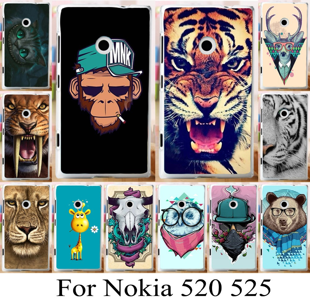 For Nokia lumia 520 525 brilliant new arrival skin cover case freeshipping fashion mobilephone case cover painted phone bag(China (Mainland))