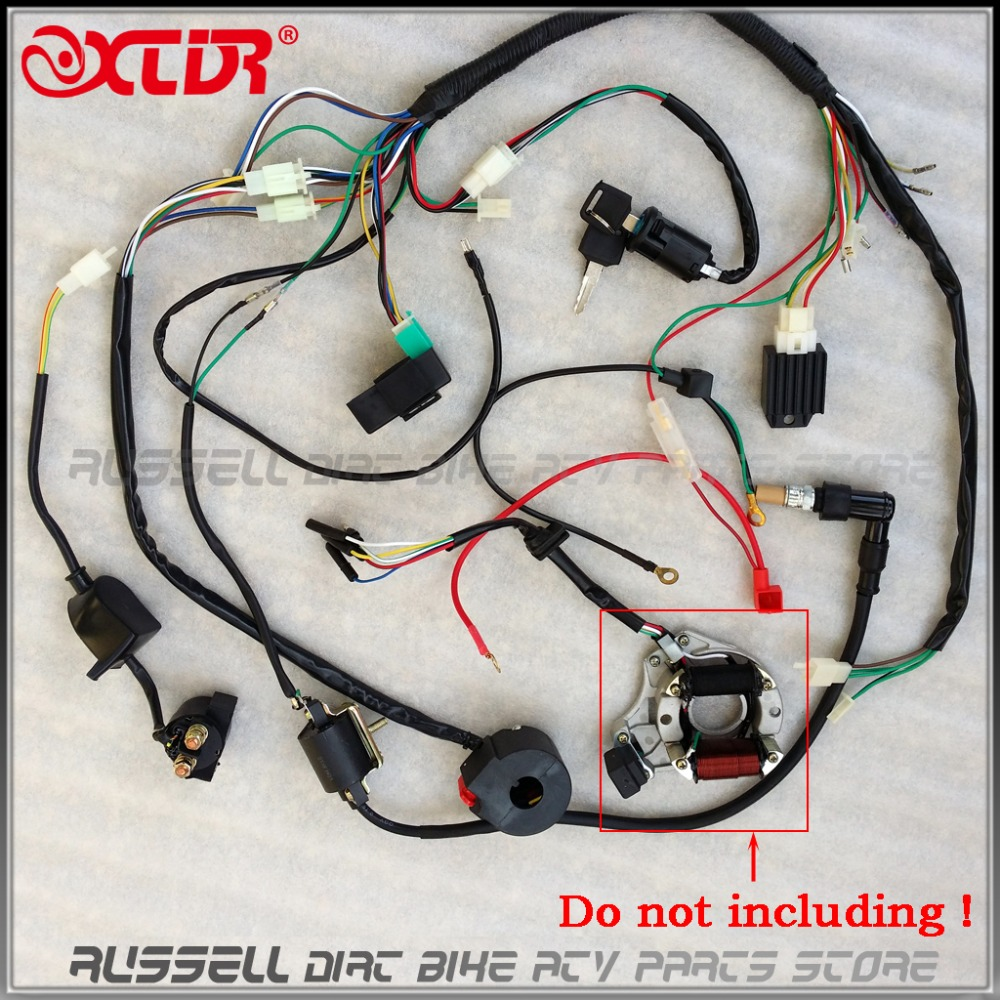 Full Electrics wiring harness CDI coil 110cc 125cc ATV Quad Bike Buggy gokart(China (Mainland))