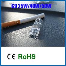 10 pcs/lote halogène G9 lumière / G9 lampe / G9 ampoule 25 w 40 w 50 w AC220v halogenos 3000 k blanc chaud non LED G9 ampoule livraison gratuite(China (Mainland))