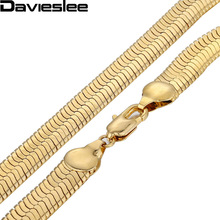 Buy 3.5/4.5/5.5/9/10/11mm MIRROR Snake HERRINGBONE Mens Boys Chain Gold Filled GF Necklace Wholesale Jewelry LGN21 for $5.99 in AliExpress store