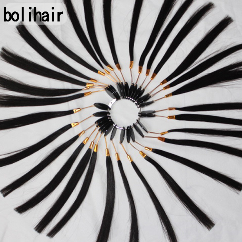 Free Shipping!!! 30PCS/Set 100% Human Virgin Hair Color Rings for Practice Dyeing Can Be Dyed Any Color For Student