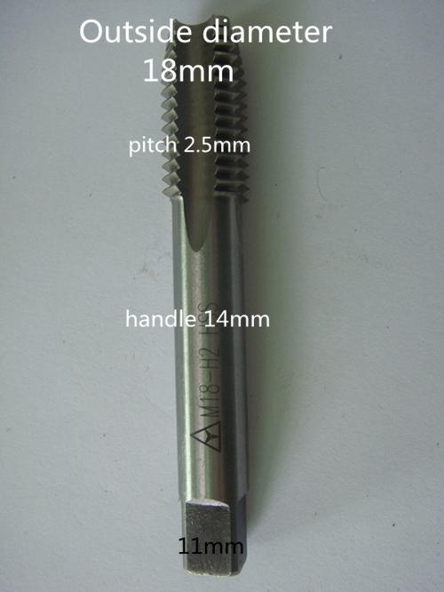 M18*2.5 screw tap HSS precision H2 1pcs 2 more cheap  Specialized in manufacturing<br><br>Aliexpress