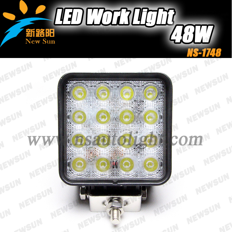 Factory supply 48w Led Work Light/ lamp offroad, truck, suv, atv etc rectangular Waterproof - Nanjing Newsun Photoelectric Limited Company store