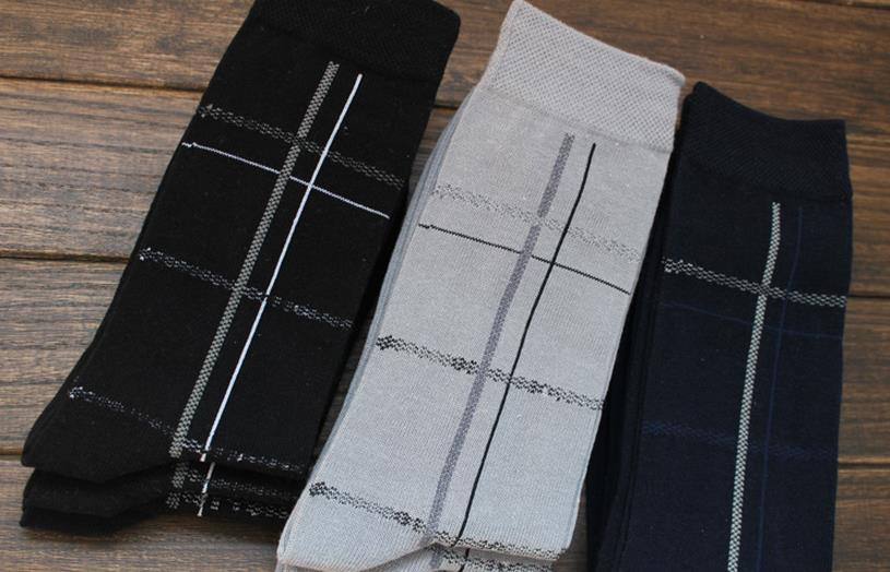 Free shipping 3 Pairs cotton Casual Classic mens dress socks Breathable Deodorant Elite Brand Socks chaussette homme calcetines(China (Mainland))