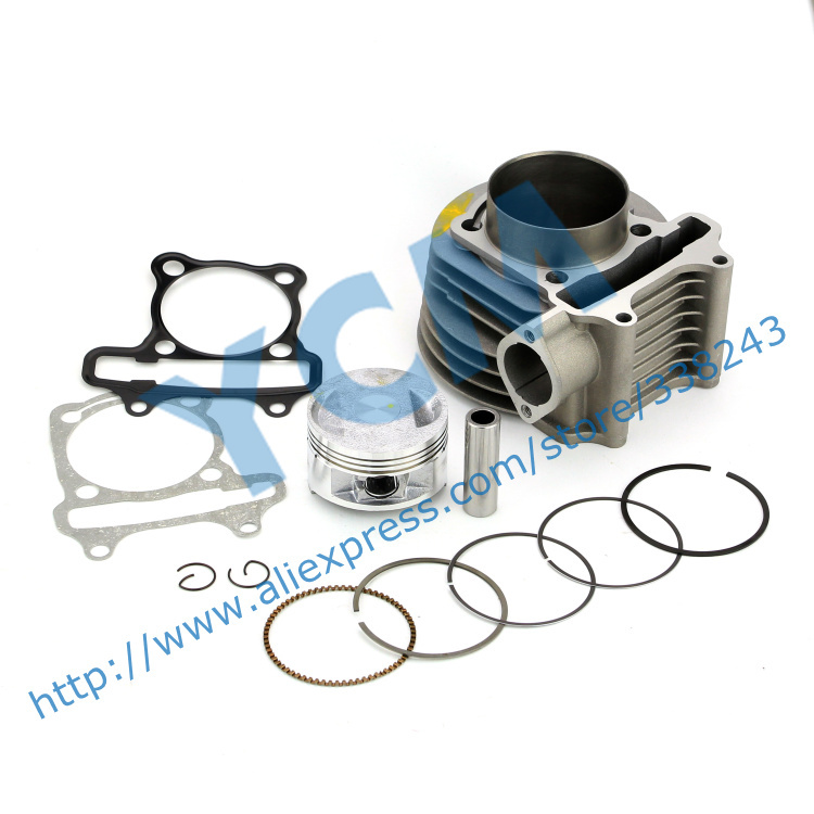 Set of Cylinder Kit 61mm Chinese Scooter Engine font b GY6 b font 125CC 150CC Modified