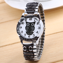 woman watches Cartoon watches casual Quartz Watch Stainless Steel Contains Elastic Strap Design Adjustable fashion wristwatch