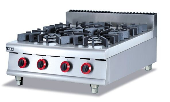 Big size 4-burners Gas stove Stainless steel gas range Counter Top commericial Gas Stove multi-cooker gas cooktop,factory sale(China (Mainland))