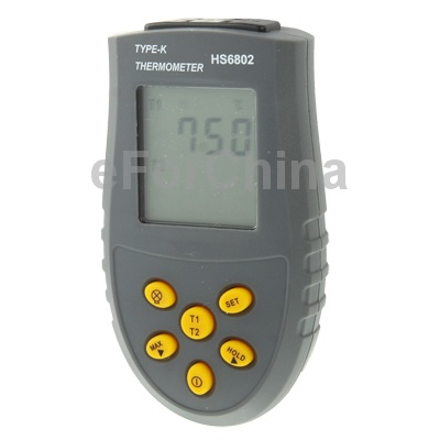 Handheld Digital Contact Thermometer with Dual-channel Free Shipping(China (Mainland))