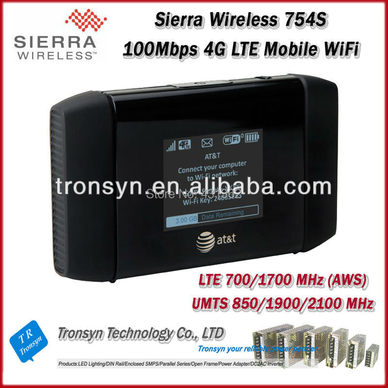 Free Shipping Cheapest Originla Unlock LTE 100Mbps Sierra Wireless Aircard 754S 4G Pocket Wireless Router And 4G Mobile WiFi(China (Mainland))