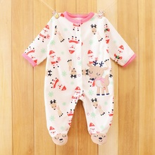 Cartoon stripe 2015 new Carter cute baby Jumpsuit flutter sleeves 100% cotton Jumpsuit cute baby clothes