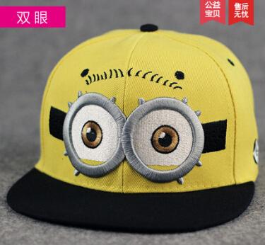 2015 new yellow cartoon lovely kids caps boys baseball caps summer jean hatschildren caps girls baseball cap baby children hat(China (Mainland))